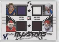 Brett Hull, Mark Messier, Ed Belfour, Chris Osgood #/1