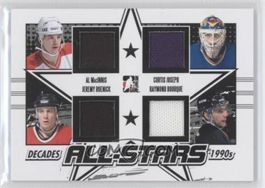 2013-14 In the Game Decades 1990s - All-Stars Jerseys - Black #AS-01 - Al MacInnis, Curtis Joseph, Jeremy Roenick, Ray Bourque /95