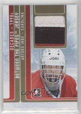 2013-14 In the Game Decades 1990s - Between the Pipes Jersey - Gold #BTPJ-01 - Arturs Irbe /10