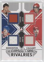 Bill Ranford, Mark Messier, Theoren Fleury, Al MacInnis #/30
