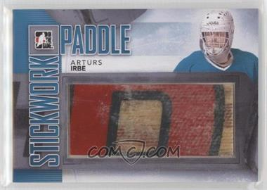 2013-14 In the Game Stickwork - Paddle - Silver #P-05 - Arturs Irbe /14