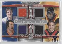Mike Bossy, Richard Brodeur, Billy Smith, Tiger Williams #/1