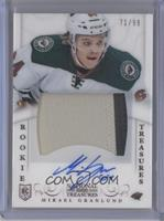 Rookie Treasures Patch Autograph - Mikael Granlund #/99
