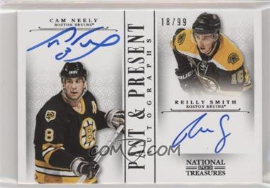 2013-14 Panini National Treasures - Past & Present Autographs #PP-NS - Cam Neely, Reilly Smith /99