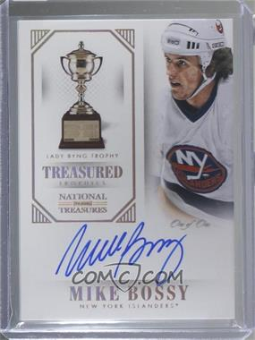 2013-14 Panini National Treasures - Treasured Trophies Lady Bing - Gold #LB-BSY - Mike Bossy /1