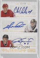 Chris Chelios, Guy Hebert, Jeremy Roenick /15