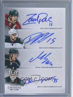 Dany Heatley, Darcy Kuemper, Mikael Granlund, Zach Parise