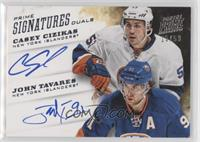 Casey Cizikas, John Tavares #/50