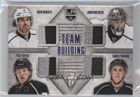 Drew Doughty, Jonathan Quick, Tanner Pearson, Tyler Toffoli #/25