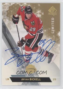 2013-14 SP Authentic - [Base] - Limited Autograph #119 - Bryan Bickell