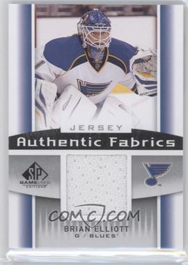 2013-14 SP Game Used Edition - Authentic Fabrics - Jerseys #AF-BE - Brian Elliott