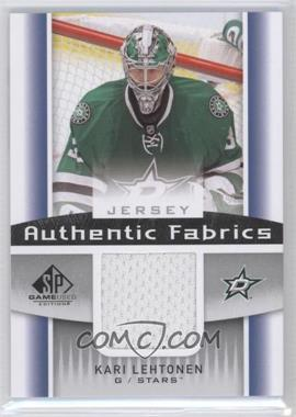 2013-14 SP Game Used Edition - Authentic Fabrics - Jerseys #AF-KL - Kari Lehtonen