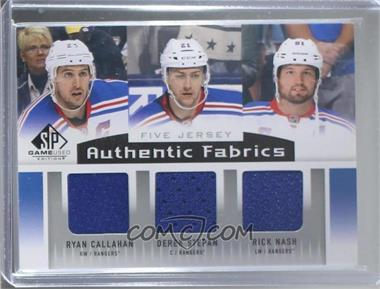 2013-14 SP Game Used Edition - Authentic Fabrics Fives - Jerseys #AF5-NYR - Ryan Callahan, Rick Nash, Brad Richards, Henrik Lundqvist, Derek Stepan
