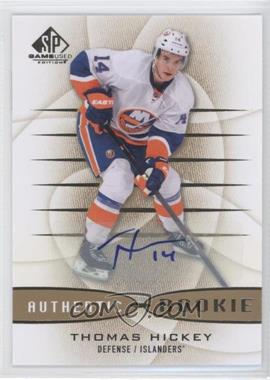 2013-14 SP Game Used Edition - [Base] - Gold Autographs [Autographed] #137 - Thomas Hickey