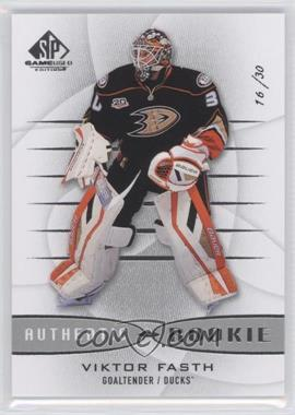2013-14 SP Game Used Edition - [Base] #165 - Viktor Fasth /30