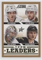 Team Leaders - Alex Goligoski, Antoine Roussel, Kari Lehtonen, Loui Eriksson