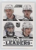 Team Leaders - Jeff Carter, Jonathan Quick, Anze Kopitar, Keaton Ellerby