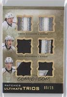 Mike Richards, Dustin Brown, Drew Doughty #/15