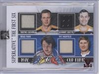 Wayne Cashman, Johnny Bucyk, Brad Park, Vic Hadfield [ENCASED] #1/1