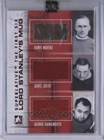Howie Morenz, Aurele Joliat, George Hainsworth [ENCASED]