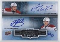 Alex Galchenyuk, Brendan Gallagher #/10