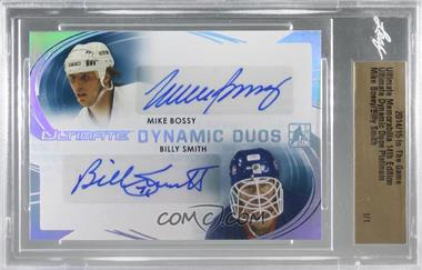 2014-15 In the Game Ultimate Memorabilia 14th Edition - Dynamic Duos - Platinum #DD-8 - Mike Bossy, Billy Smith /1 [Uncirculated]