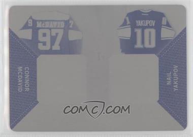 2014-15 In the Game Used - Dual Game-Used Jerseys - Printing Plate Black #GU2J-03 - Connor McDavid, Nail Yakupov /1