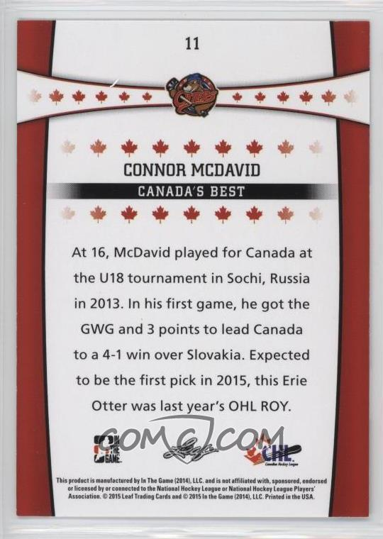 2014-15 Leaf In the Game CHL Top Prospects - Canada's Best