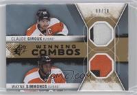 Wayne Simmonds, Claude Giroux #/10