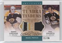 Gerry Cheevers, Phil Esposito #/36