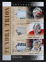 Cory Schneider, Jim Howard, Pekka Rinne #/1