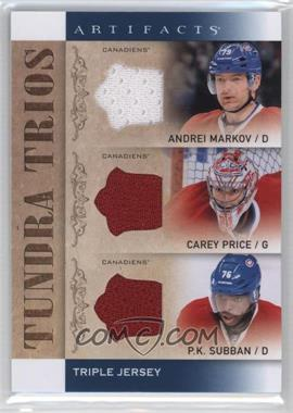 2014-15 Upper Deck Artifacts - Tundra Trios - Blue Triple Jersey #T3-MC - P.K. Subban, Andrei Markov, Carey Price