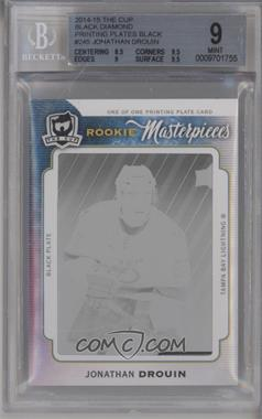 2014-15 Upper Deck Black Diamond - [Base] - 14-15 The Cup Rookie Masterpieces Printing Plate Black #BD-245 - Jonathan Drouin /1 [BGS 9 MINT]