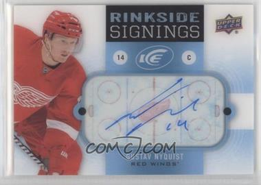2014-15 Upper Deck Ice - Rinkside Signings #RS-GN - Gustav Nyquist