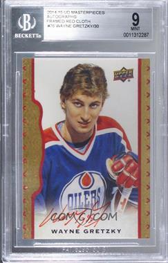2014-15 Upper Deck Masterpieces - [Base] - Red Framed Autographs [Autographed] #76 - Wayne Gretzky /30 [BGS9MINT]