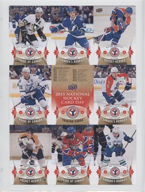 2014-15 Upper Deck National Hockey Card Day Canada - [Base] - Uncut Sheet #NHCD-1-6 - Sidney Crosby, Jonathan Drouin, Wayne Gretzky, Steven Stamkos, Checklist, Aaron Ekblad, Bobby Orr, P.K. Subban, Bo Horvat