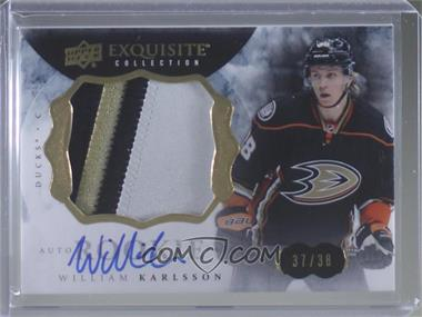 2014-15 Upper Deck The Cup - 2014-15 Exquisite Collection #26 - Rookie Patch Autograph - William Karlsson /38