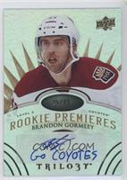Level 3 Rookie Premieres Autograph Inscriptions - Brandon Gormley #/49