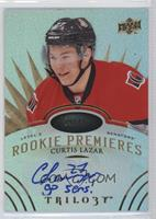 Level 3 Rookie Premieres Autograph Inscriptions - Curtis Lazar #/49