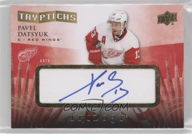 2014-15 Upper Deck Trilogy - Tryptichs Signatures #T-WINGS3 - Pavel Datsyuk /60