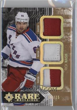 2014-15 Upper Deck Ultimate Collection - Rare Materials - Gold Spectrum Patch #RM-RN - Rick Nash /15