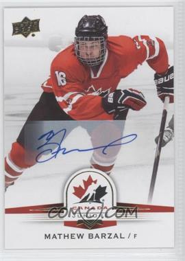 2014 Upper Deck Team Canada Juniors - [Base] - Gold Autographs [Autographed] #23 - Mathew Barzal