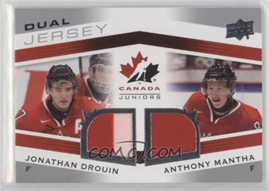 2014 Upper Deck Team Canada Juniors - Team Canada Dual Jersey #TCD-DM - Jonathan Drouin, Anthony Mantha