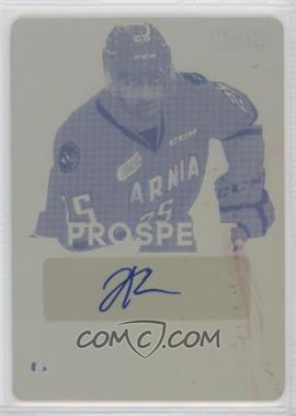 2015-16 Leaf In the Game Heroes & Prospects - Prospect Autographs - Printing Plate Yellow #PS-JK2 - Jordan Kyrou /1
