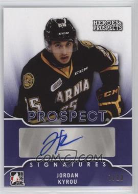 2015-16 Leaf In the Game Heroes & Prospects - Prospect Autographs - Purple #PS-JK2 - Jordan Kyrou /10
