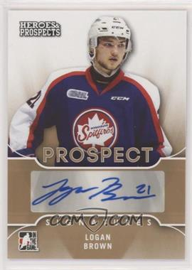 2015-16 Leaf In the Game Heroes & Prospects - Prospect Autographs #PS-LB1 - Logan Brown