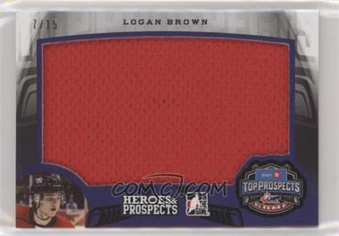 2015-16 Leaf In the Game Heroes & Prospects - Top Prospect Game Jersey - Purple #TP-09 - Logan Brown /15