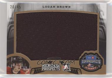 2015-16 Leaf In the Game Heroes & Prospects - Top Prospect Game Jersey #TP-09 - Logan Brown /45