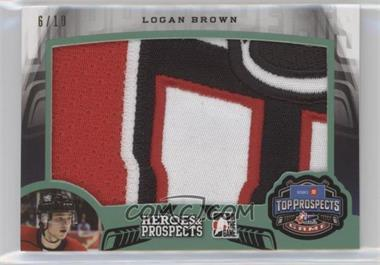2015-16 Leaf In the Game Heroes & Prospects - Top Prospect Game Patch - Emerald #TPP-09 - Logan Brown /10