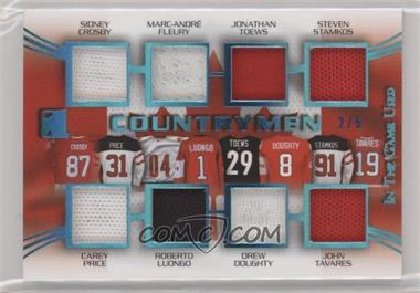 2015-16 Leaf In the Game Used - Countrymen - Blue Spectrum #C-03 - Sidney Crosby, Marc-Andre Fleury, Jonathan Toews, Steven Stamkos, Carey Price, Roberto Luongo, Drew Doughty, John Tavares /5